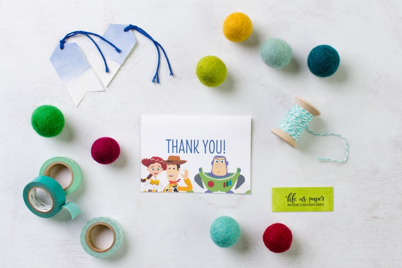 TOY STORY  thank you cards  birthday stationery  set of 20 image 0