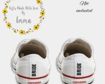 fd3cea7be4d4cb Wedding Converse Bride heel tags DIY iron on transfer decal something blue