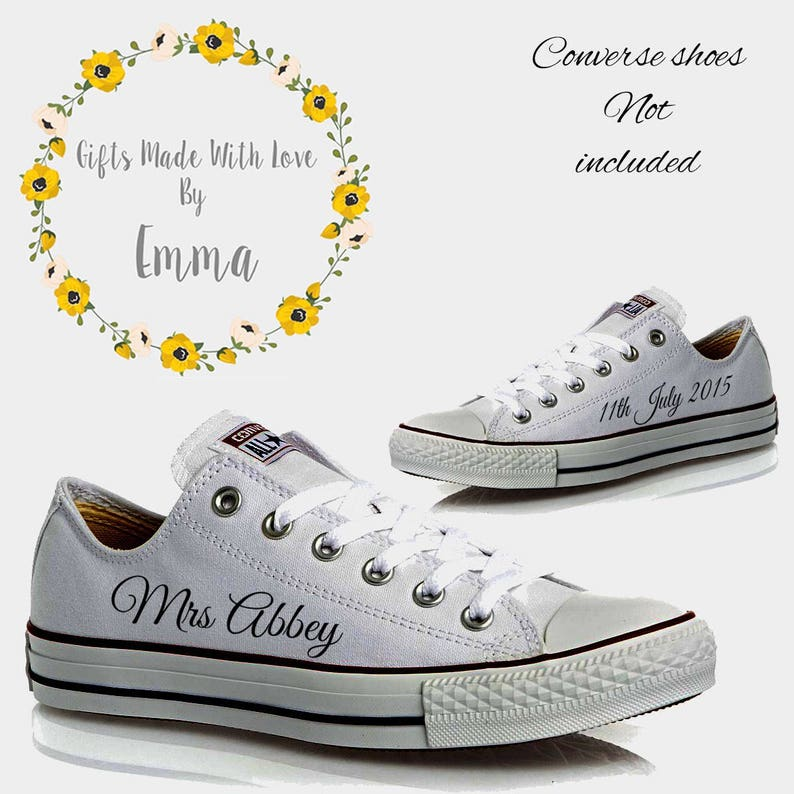 Personalised DIY converse transfers mrs miss new mrs new  f88daa09f