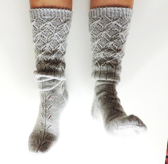Bota gris calcetines. Gris calcetines hasta las rodillas. | Etsy