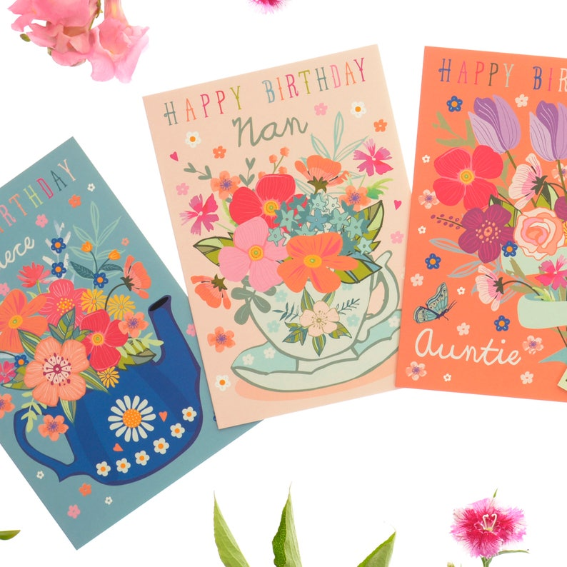 Happy Birthday Nan Card For