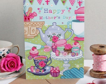 Mothers Day Card - Mothers day - Happy Mothers Day - Card for Mum - Card for Mom - Baking Card - Best Mum Card