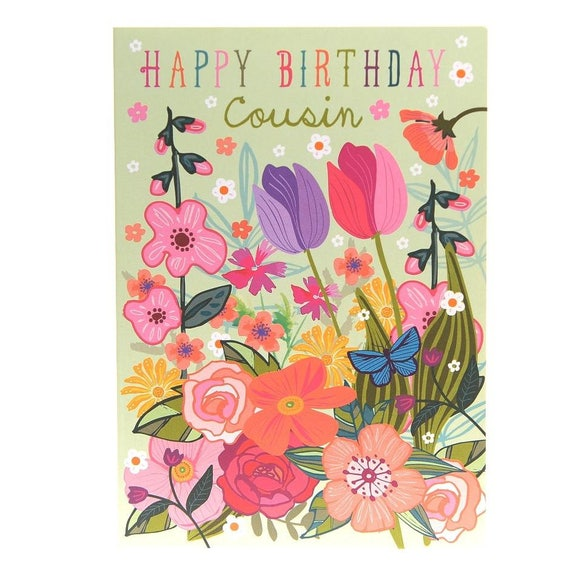 Glucklich Geburtstag Cousin Cousine Geburtstagskarte Beste Etsy
