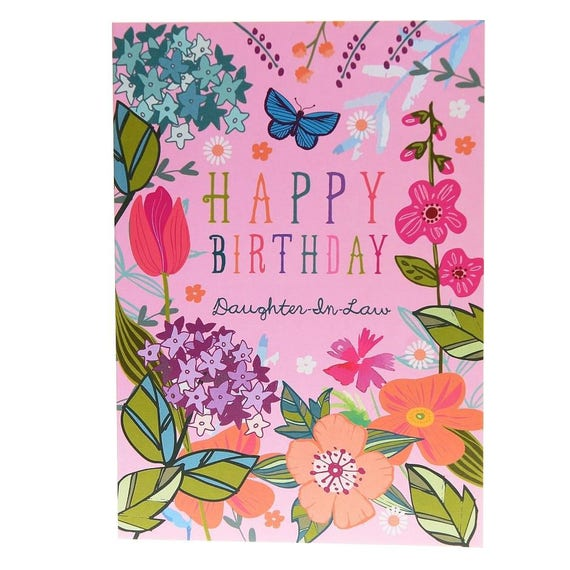 Happy Birthday Daughter In Law Birthday Card For Etsy