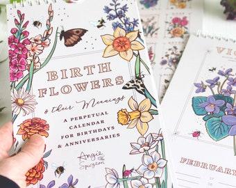 Perpetual Calendar, Birth Flowers Calendar, Anniversaries and Special Occasions Desk Calendar