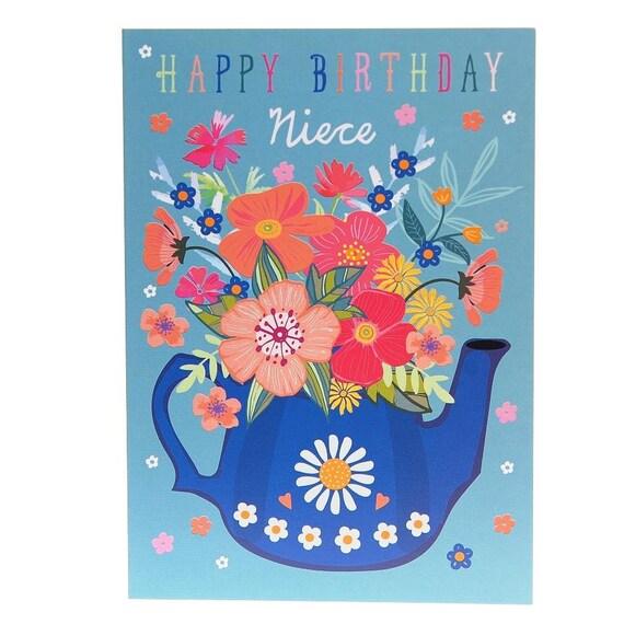Happy Birthday Niece Niece Birthday Card Best Niece Card Etsy