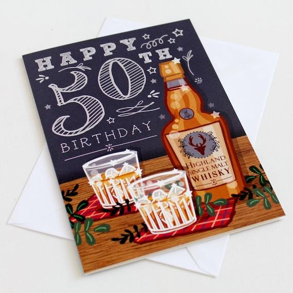 50th Birthday Card Happy 50th Birthday Card 50th