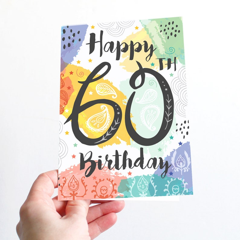 60th Birthday Card Happy 60 Today