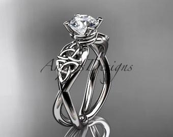 Celtic Engagement Ring Celtic Wedding Ring Trinity Knot Engagement Ring Platinum Gold Celtic Sapphire Wedding Ring Celtic Ring