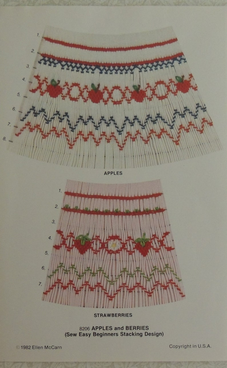 Vintage Smocking Plate Multiple Patterns Available Choose One Flowers Bunnies