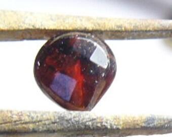 Garnet teardrop bead, top drilled.  7 mm faceted puffed teardrop,  75 beads. (b71811)
