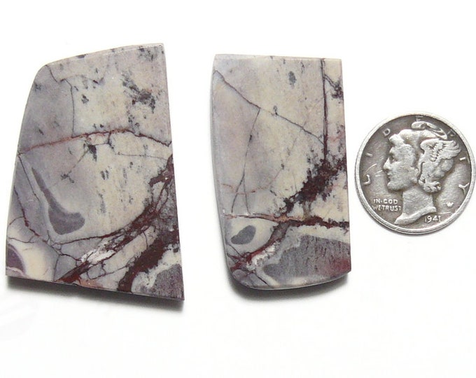 2 Porcelain Jasper preformed rough slab, aka Exotica Stone, lot of 2, natural picture stone (rs102403)