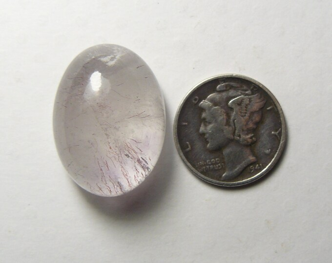 Lepidocrocite in smoky quartz, 37 ct, 17 x 23 x 12 mm, Super 7, cabochon for ring or pendant (js72002)