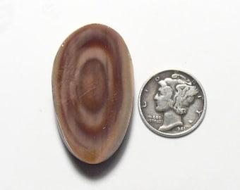 Royal Imperial Jasper rough preformed slab, 21 x 36 x 7.5 mm,  natural, brown tone, unique orbs. (rs62603)