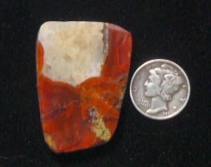 Apache agate preformed rough slab, 28 x 38 x 10mm, Chihuahua, Mexico (rs43002)