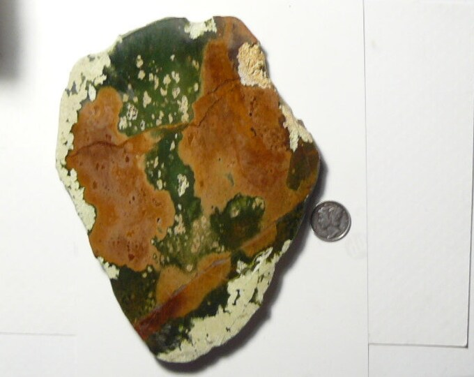 "Large Chrome Chalcedony slab, polished 1 side, beautiful specimen,  6"" x 4 1/2"" x 12 mm, polished 1 side (sp9801)"