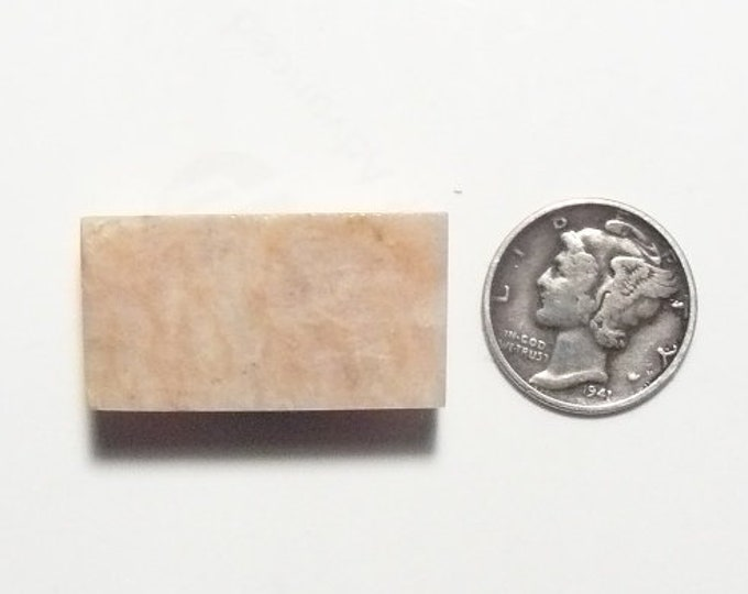 Pink Peruvian Opal preformed rough slab, 15 x 30 x 5 mm, rectangle shape, small size for ring (rs82702)