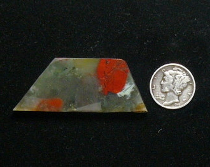 African Bloodstone preformed rough slab, 21 x 51 x 5.5 mm, translucent, Cherry Orchard agate from Africa (rs101903)