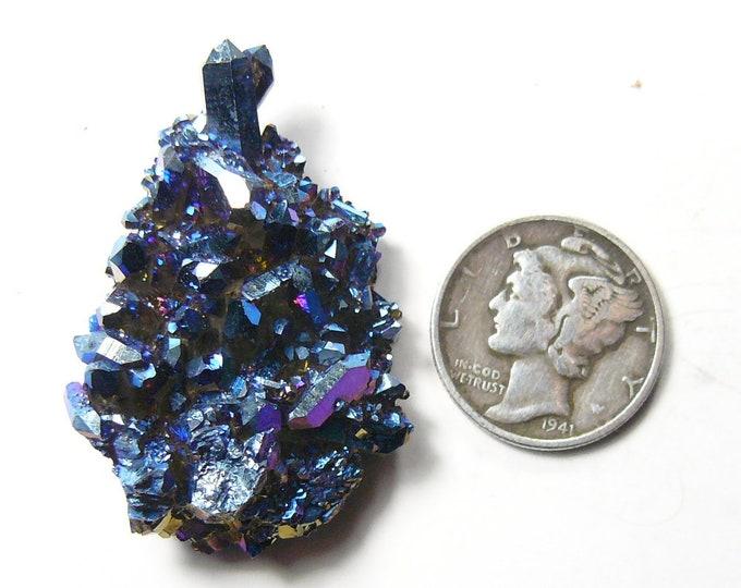Rainbow Aurora crystal cluster, Cobalt Azotic Crystals, lab technology (au42712)