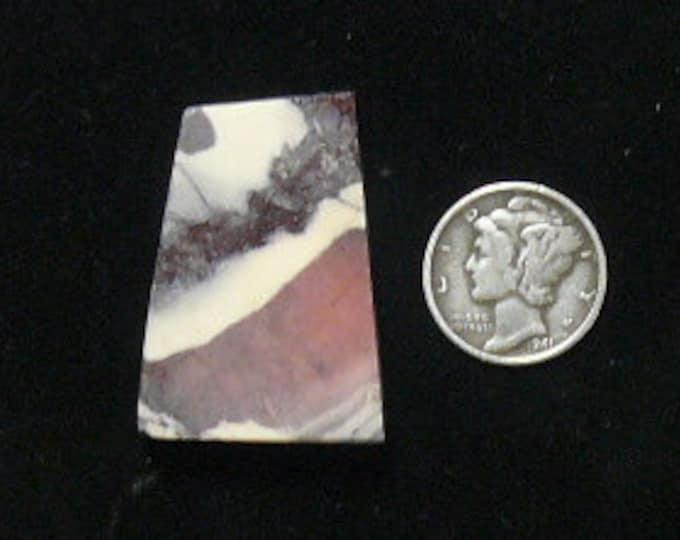 Porcelain Jasper preformed rough slab, aka Exotica Stone,  24 x 33 x 6 mm, natural picture stone (rs11012)
