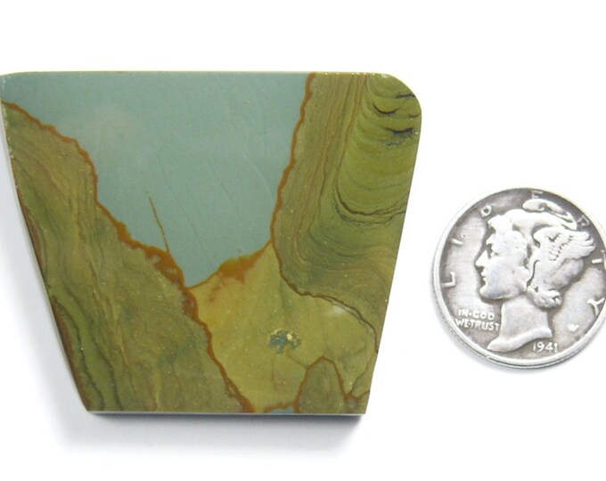 Craig Gulch preformed picture Jasper rough slab, 40 x 32 x 6.5 mm, rare, natural (rs41712)