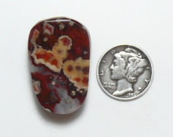 Hornitos Poppy Jasper preformed rough slab, 20x30x6.5 mm,ready to cab, small size, ring size,  natural (rs121903)