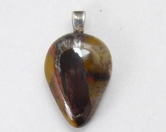 Binghamite pendant,  30 by 17 x 5 mm, SS glue on bail, natural rare stone, mirror polish all sides (j72511)