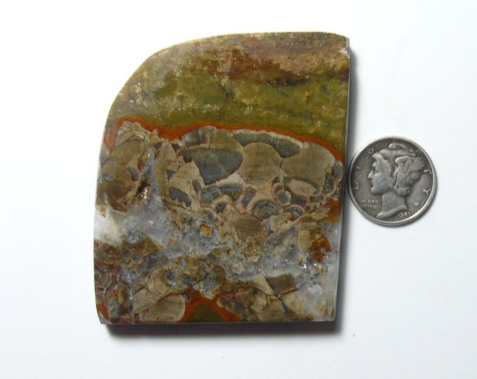 Large Mushroom Jasper preformed rough slab, 48 x 56 x 6 mm, natural, from original find (rs121706)