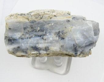 "Dendritic Opal from Milford, Utah, rough specimen, 3"" x 1 1/2"" x 2"", 141.6 g, natural, black dendrites. (c62312)"