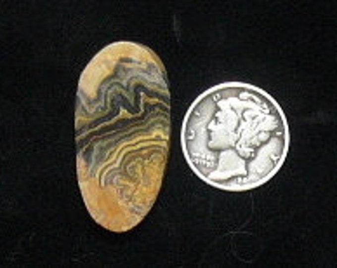 Flowering Tube Onyx preformed rough slab, 16 x 31 x 5.2 mm, natural, rare  (rs121902)