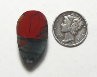 African Bloodstone preformed rough slab, 15 x 25 x 8 mm, translucent, Cherry Orchard agate, ring size (rs72602)