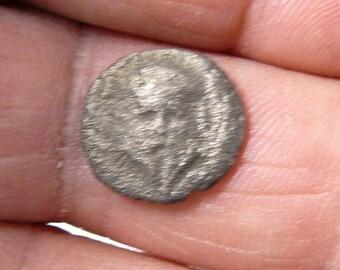 Corinthian Helmet and Meta wheel, Ancient Greek coin, Thrace, Mesembria, 1.9g, 14mm   (c52312)