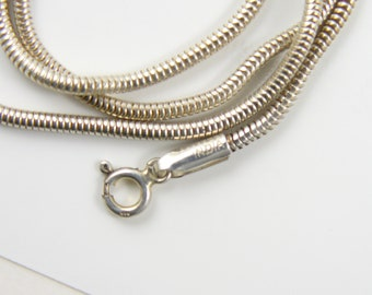 Sterling Silver 925 seamless  Snake Chain necklace,  2 mm,  18-23 inches, never used,   (js5911)