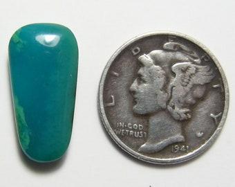 Gem Silica Chrysocolla cabochon, 18 x 9-11 x 4 mm, blue, translucent,  natural, rare, from Arizona Ray Mine   (c7901)