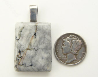 Gold Mine Ore Pendant  -  Designer Freeform Cabochon with sterling silver glue on bail (j83111)