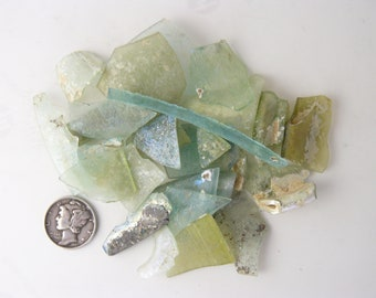 Ancient Roman Glass Shards (33.5 g) from ancient Hebron Roman glass factories, over 2000 years old  (g71611)