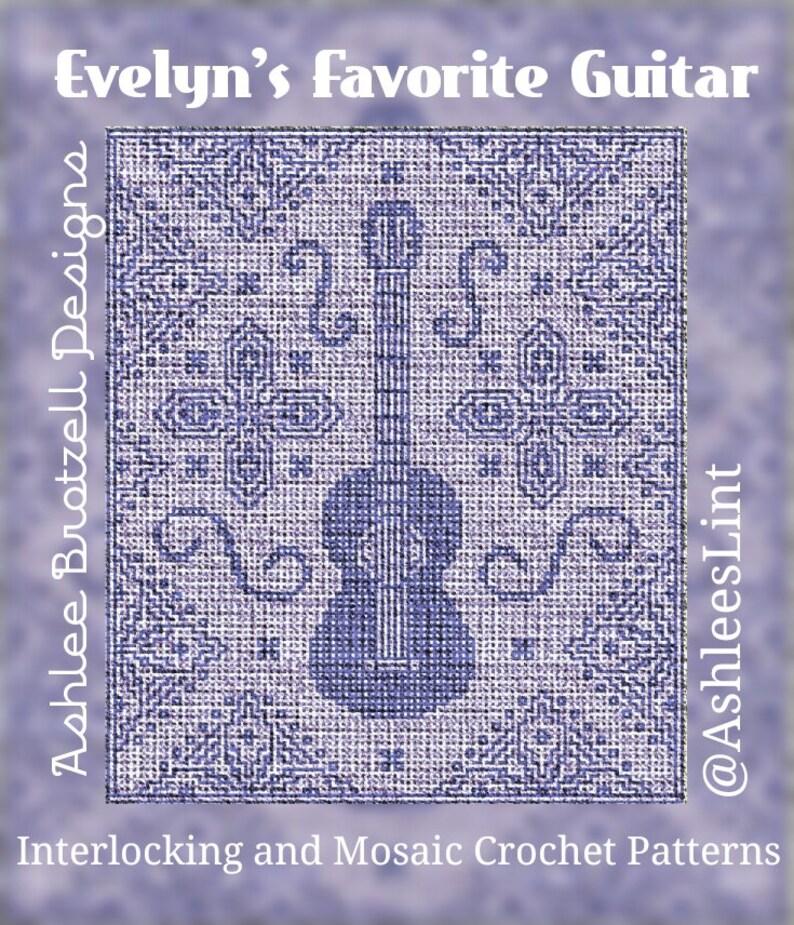 Evelyn's Favorite Guitar  Locked Filet Mesh image 1