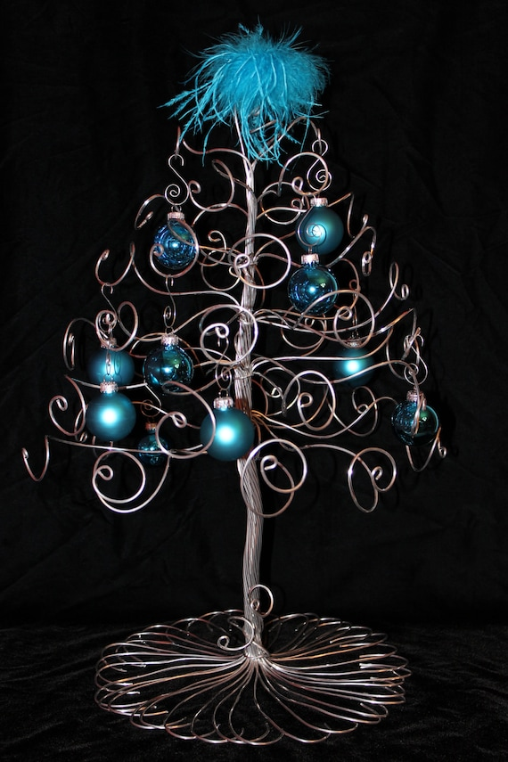 Christmas Tree Ornament Display Holder Silver Wire Holiday