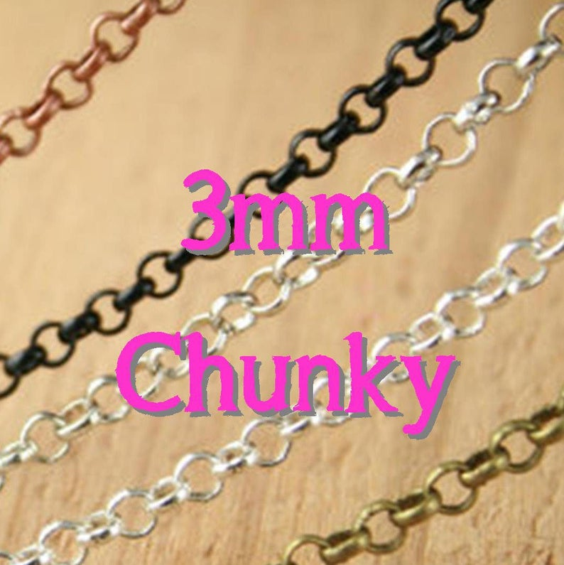33d82b328b5 100 Necklaces CHUNKY Rolo Style 24 inch Bronze Chain