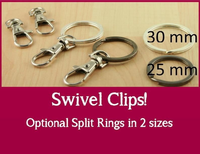 1930955185 10 Large Swivel Key Ring Clips Handbag Clips Swivel Charm | Etsy