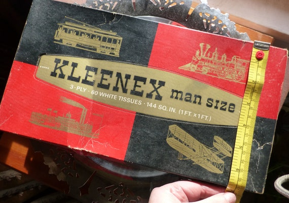 vintage man size kleenex from the late 1960s etsy