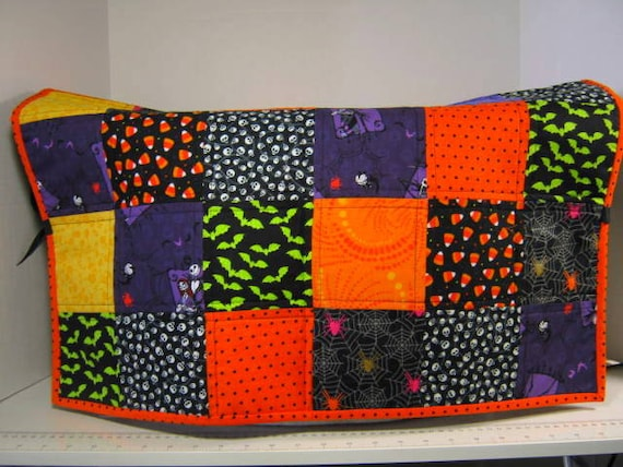 Halloween Quilted Large Sewing Machine Dust Cover 40 Inches Etsy Mesmerizing Sewing Machine Dust Cover