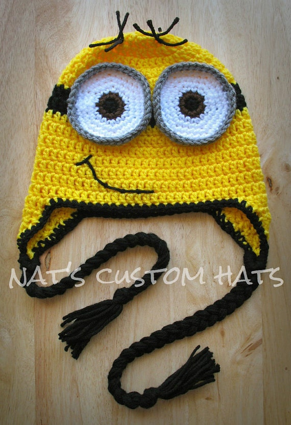 Crochet Pattern Minion Hat Pdf File Instant Download All Etsy