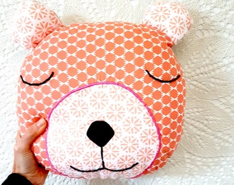 Bruce the bear. Bear Toy, Stuffed Bear, Pillow, Nursery Decor, Soft Toy, Kids Room Decor, Bear Cushion, Decorative Pillow
