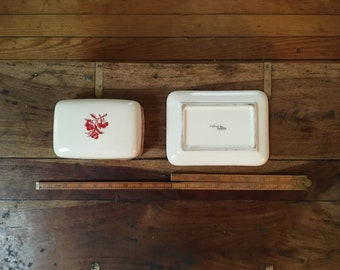 90s Red Cherries Butter Dish