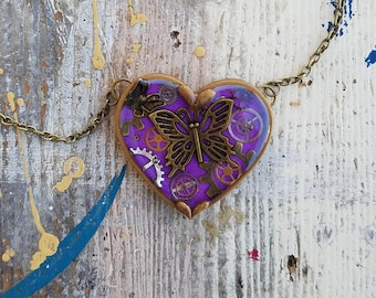 Resin Heart Necklace