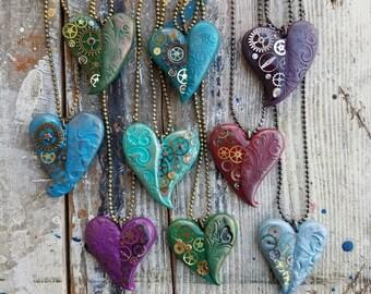 Heart Pendant, Half Resin