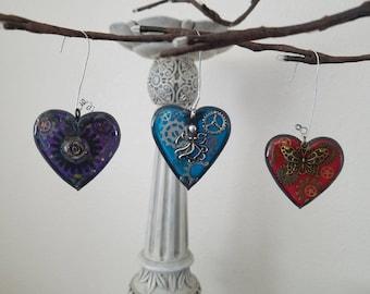 Resin Heart Ornaments