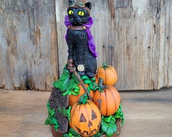 Halloween Cat Sculpture