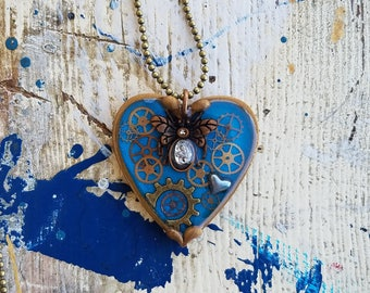 Small Resin Heart Pendents